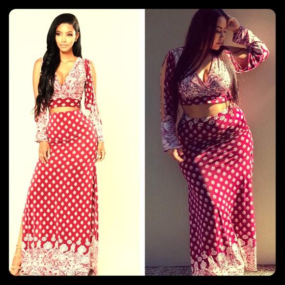e3fb2032cbb 2piece Plus Size Skirt Set🔥